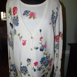 NWOT Alfred Dunner Cardigan/Shell